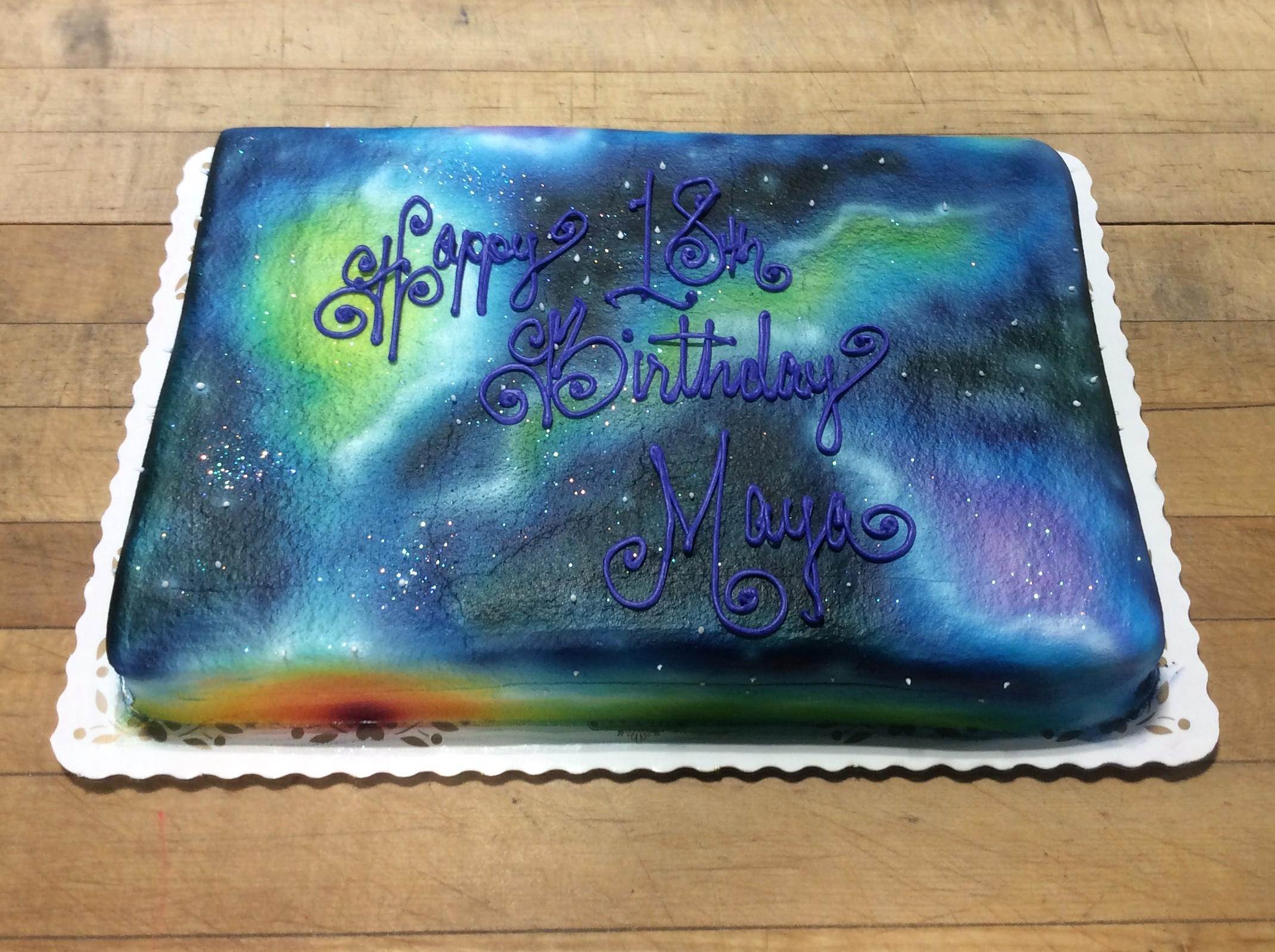 space sheet cake