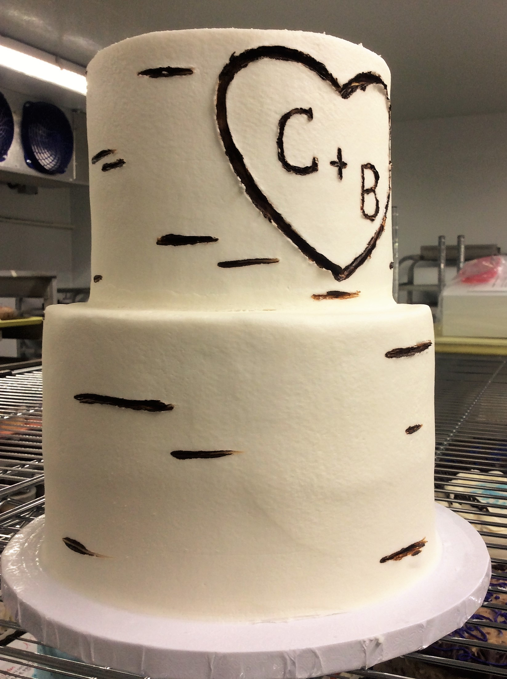Birch Tree Party Cake