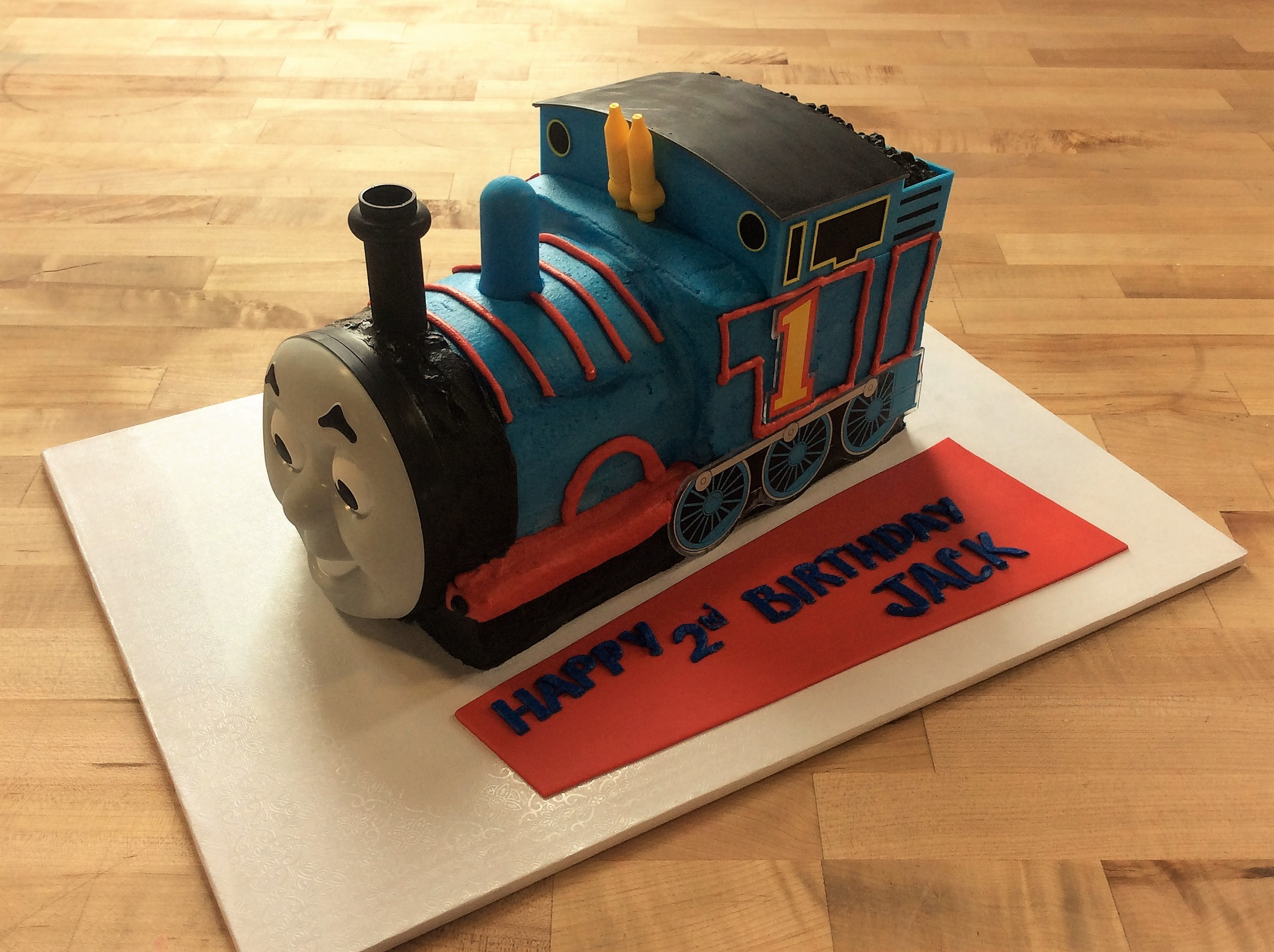 Thomas the Train Shaped Cake