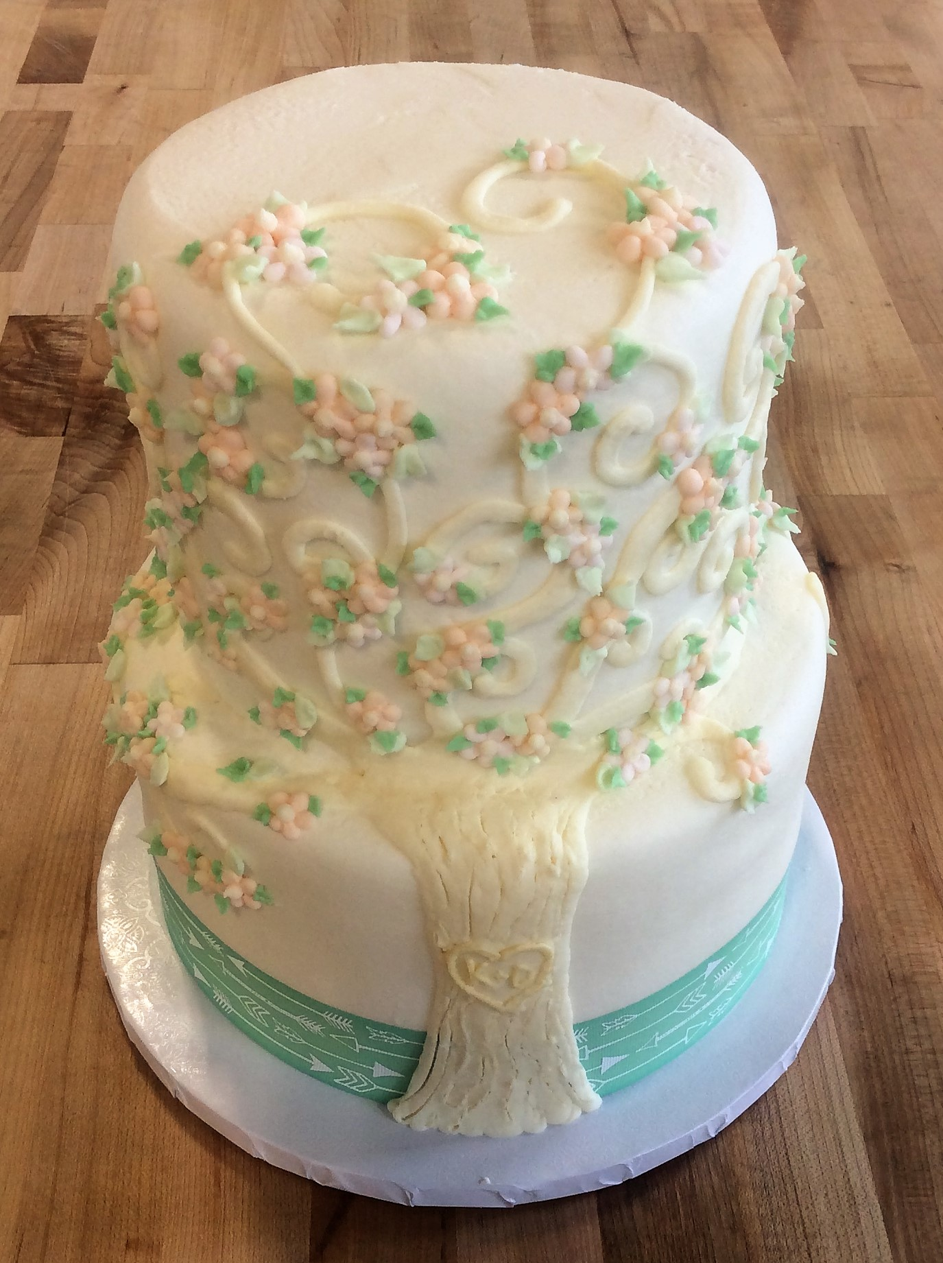 Tree of Love Party Cake