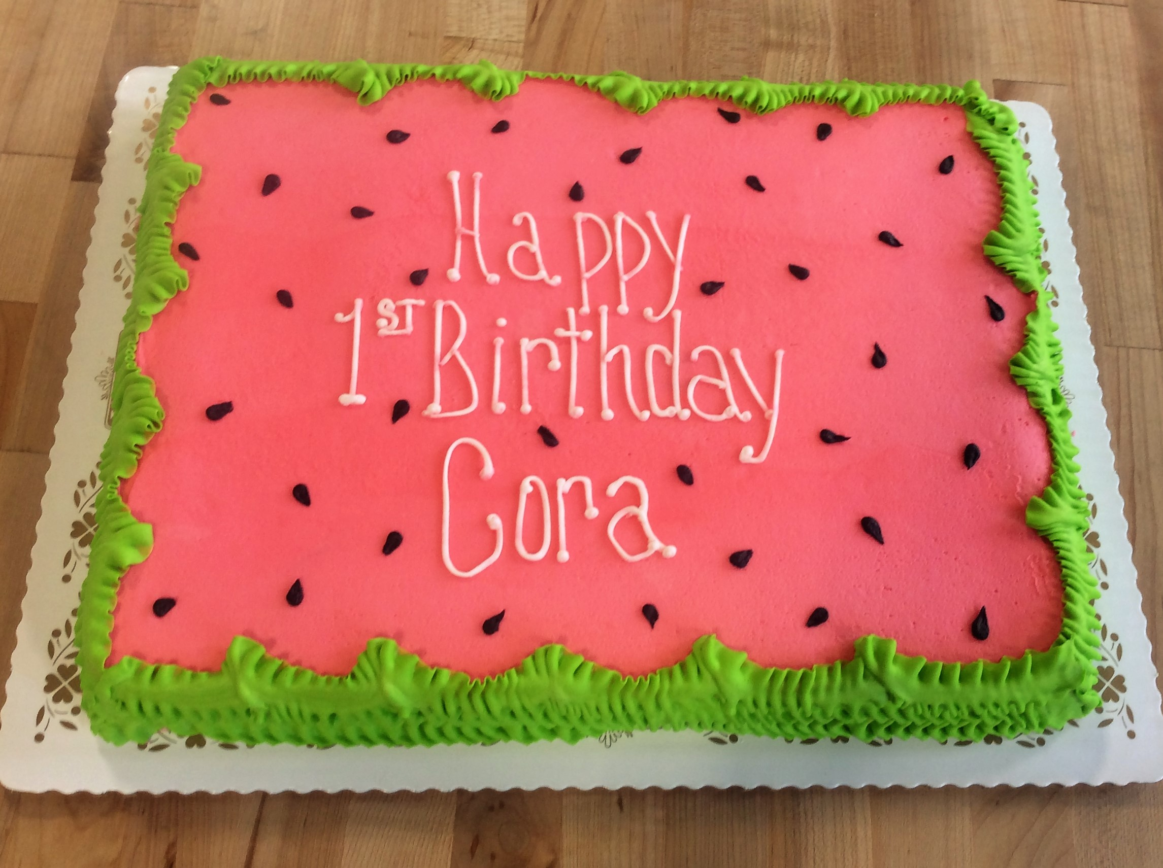 Watermelon Sheet Cake
