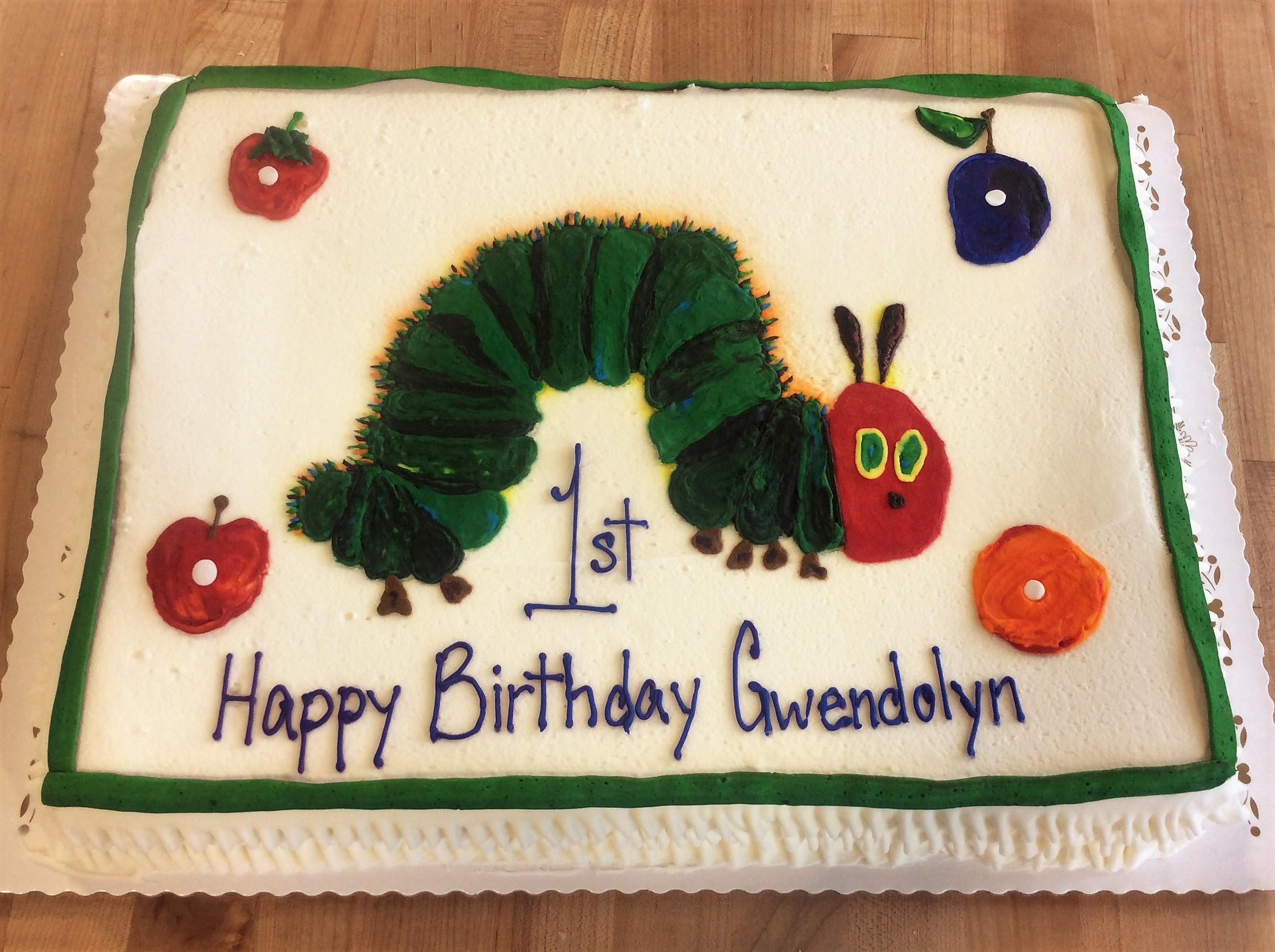 Hungry Hungry Caterpillar Sheet Cake