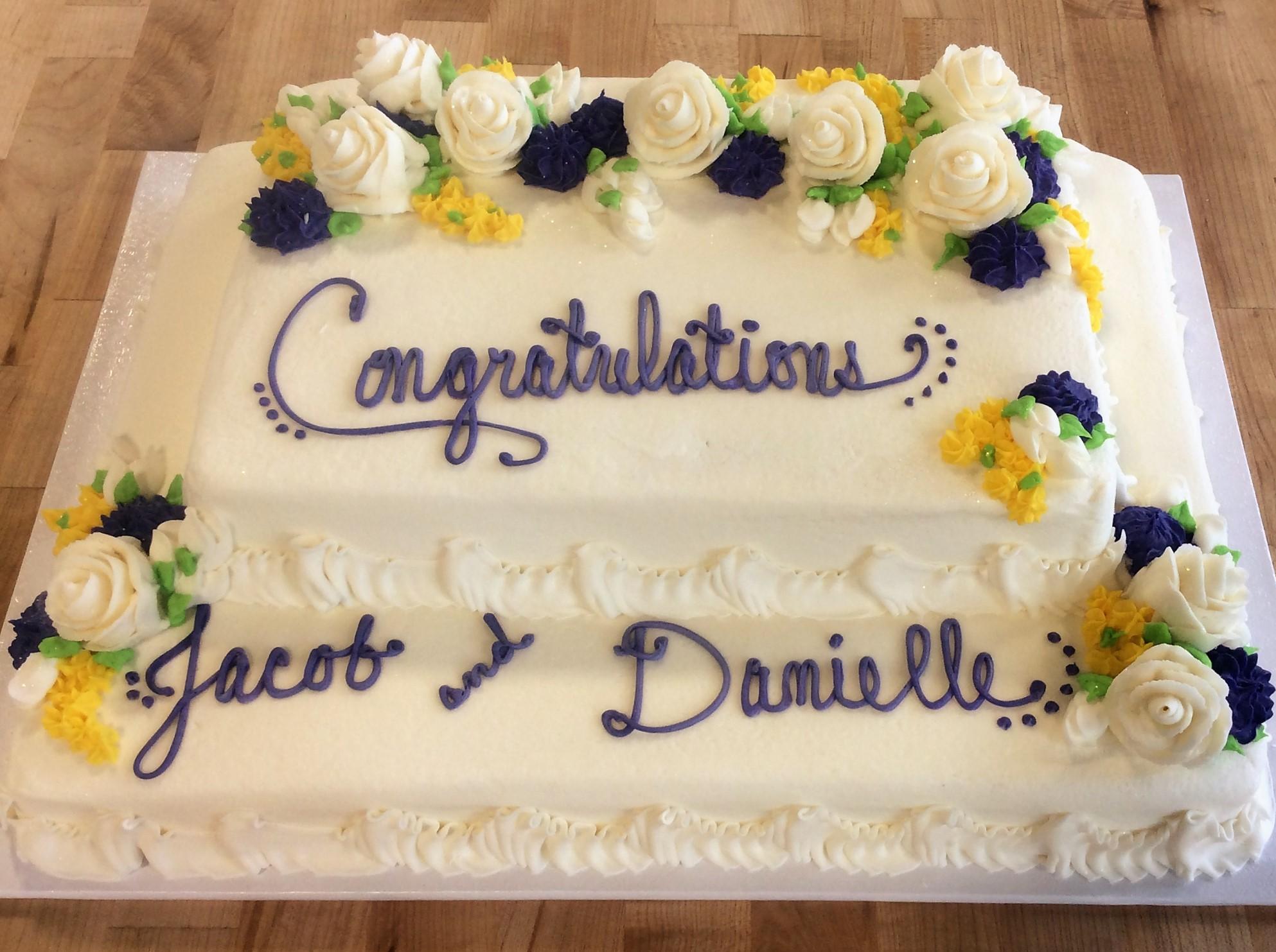 Tiered Bridal Shower Sheet Cake