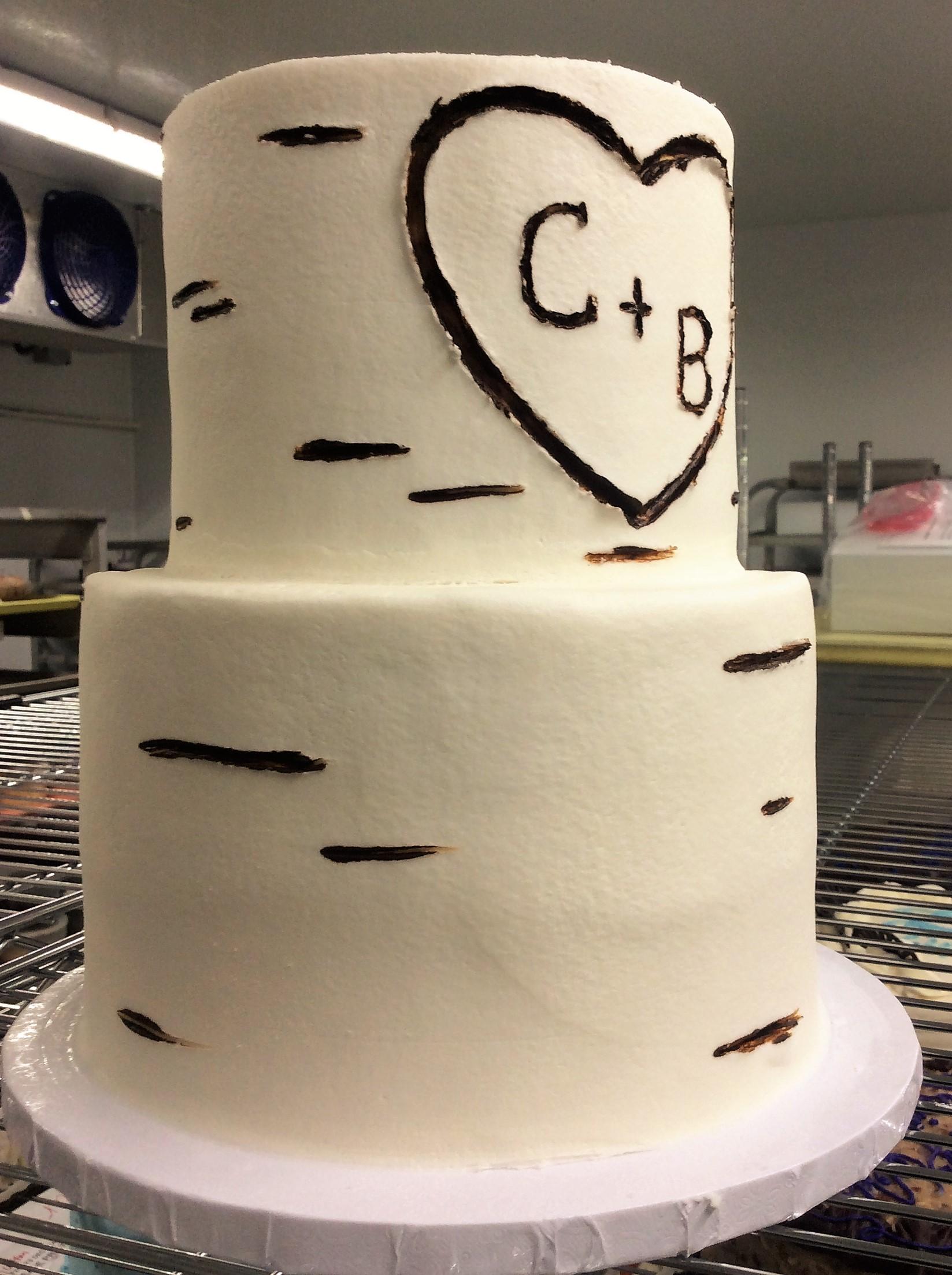 Birch Tree Party Cake
