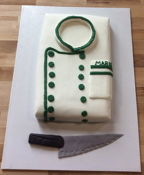 Chef Coat with Fondant Knife