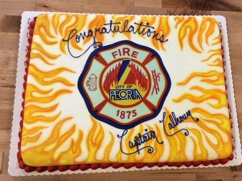 Firefighter Sheet Cake