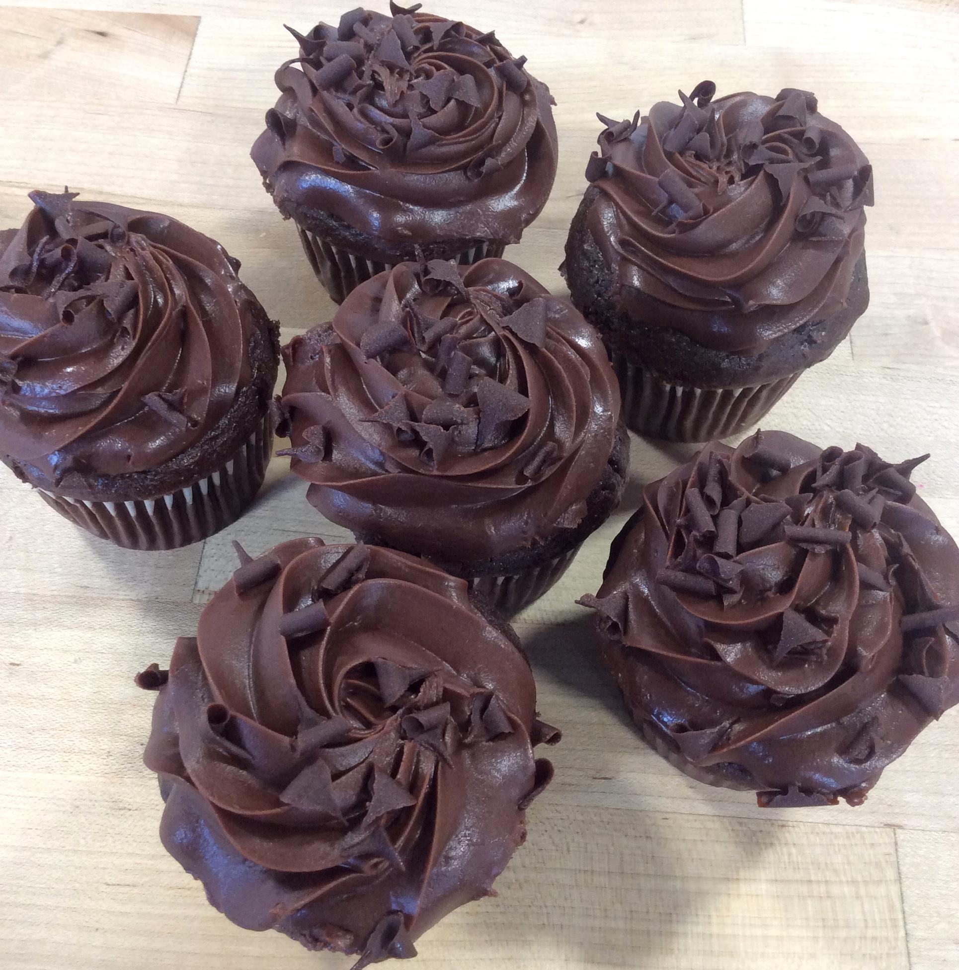 Chocolate Chocolate Pudding Dessert Cupcakes