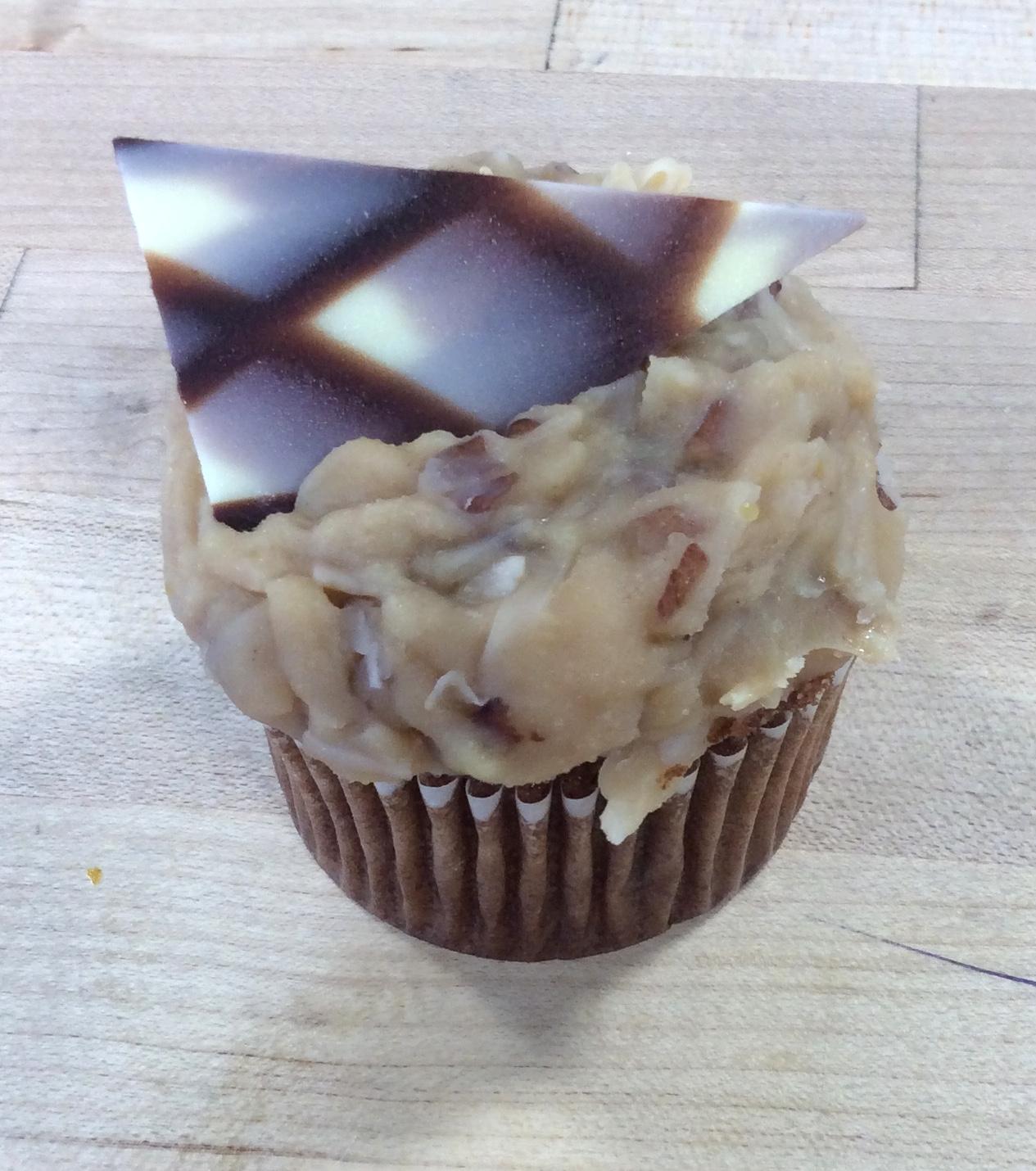 German Chocolate Dessert Cupcakes