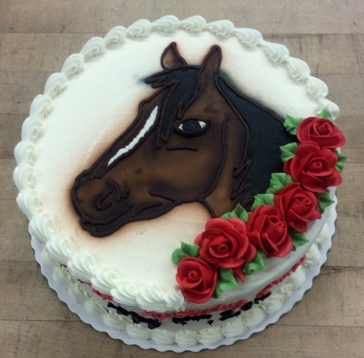 Airbrushed Horse with Roses