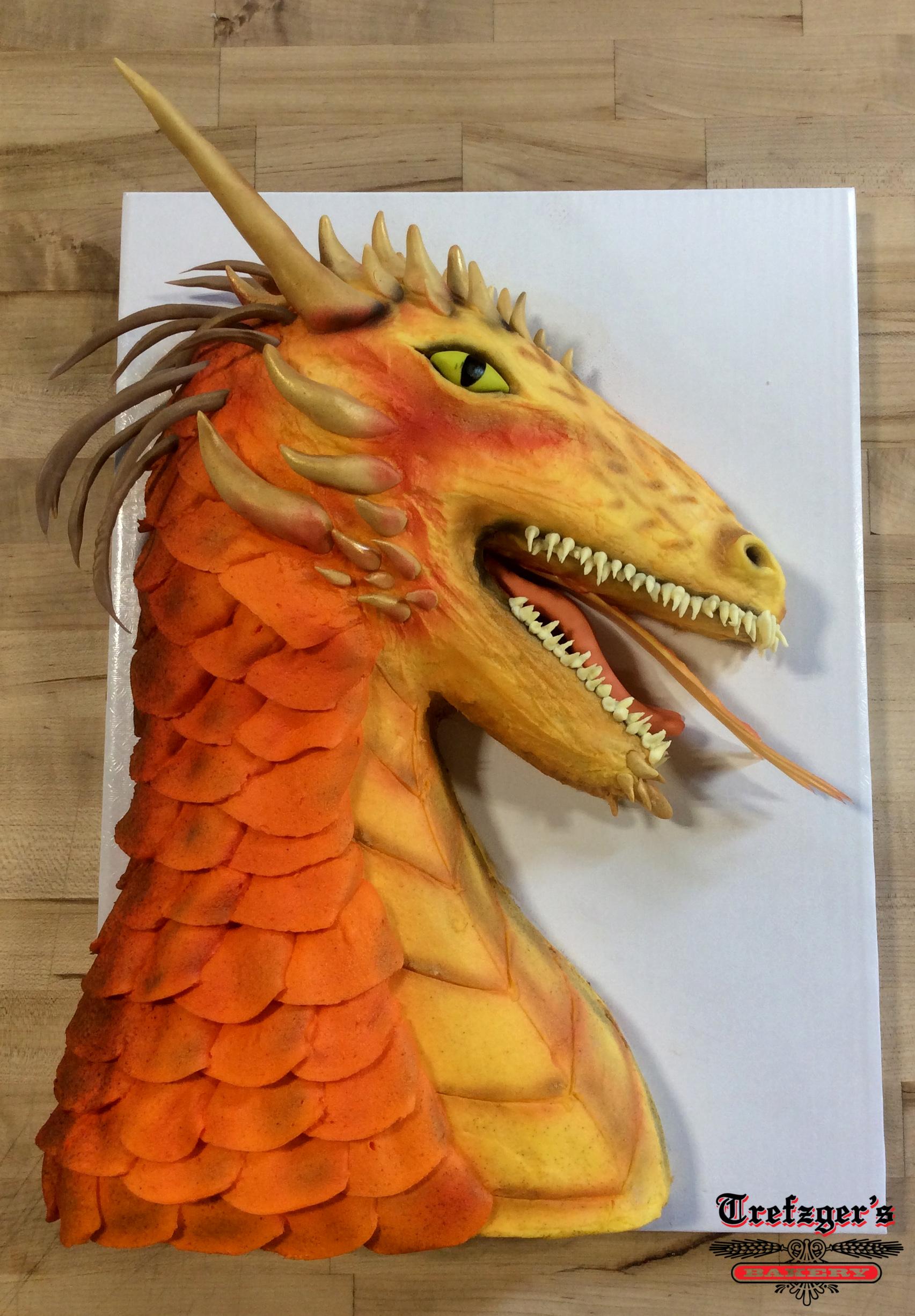 Dragon Shaped Cake