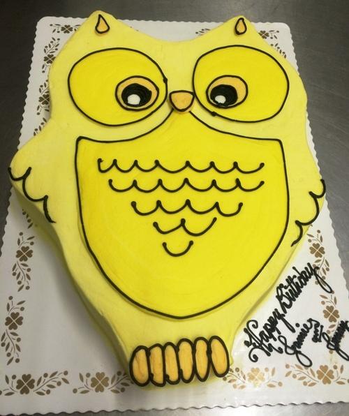 Owl Shaped Cake