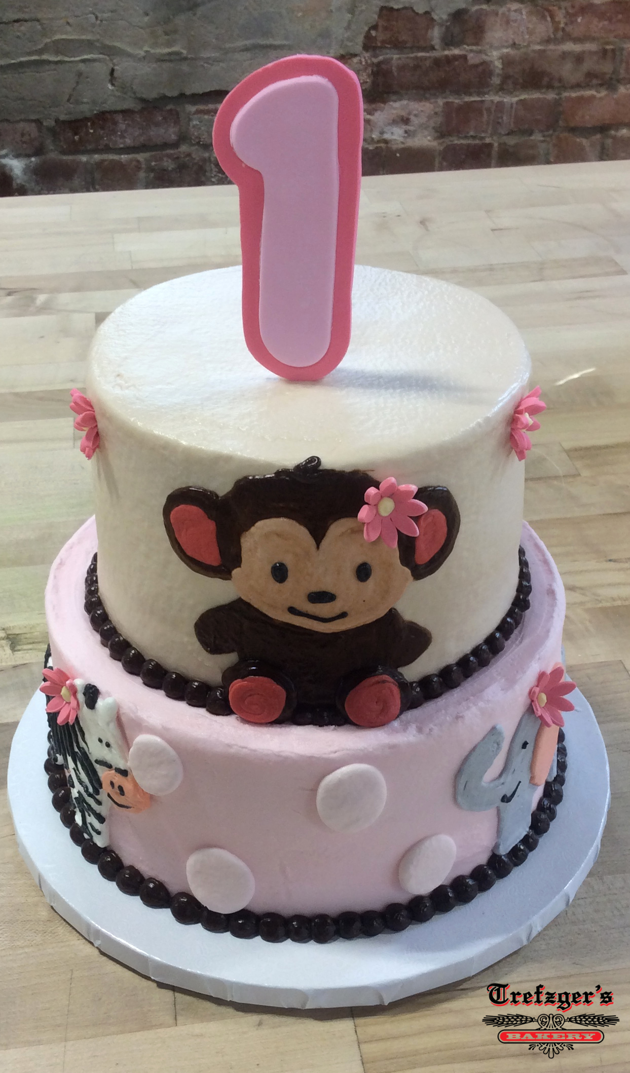 Piped Animals Party Cake