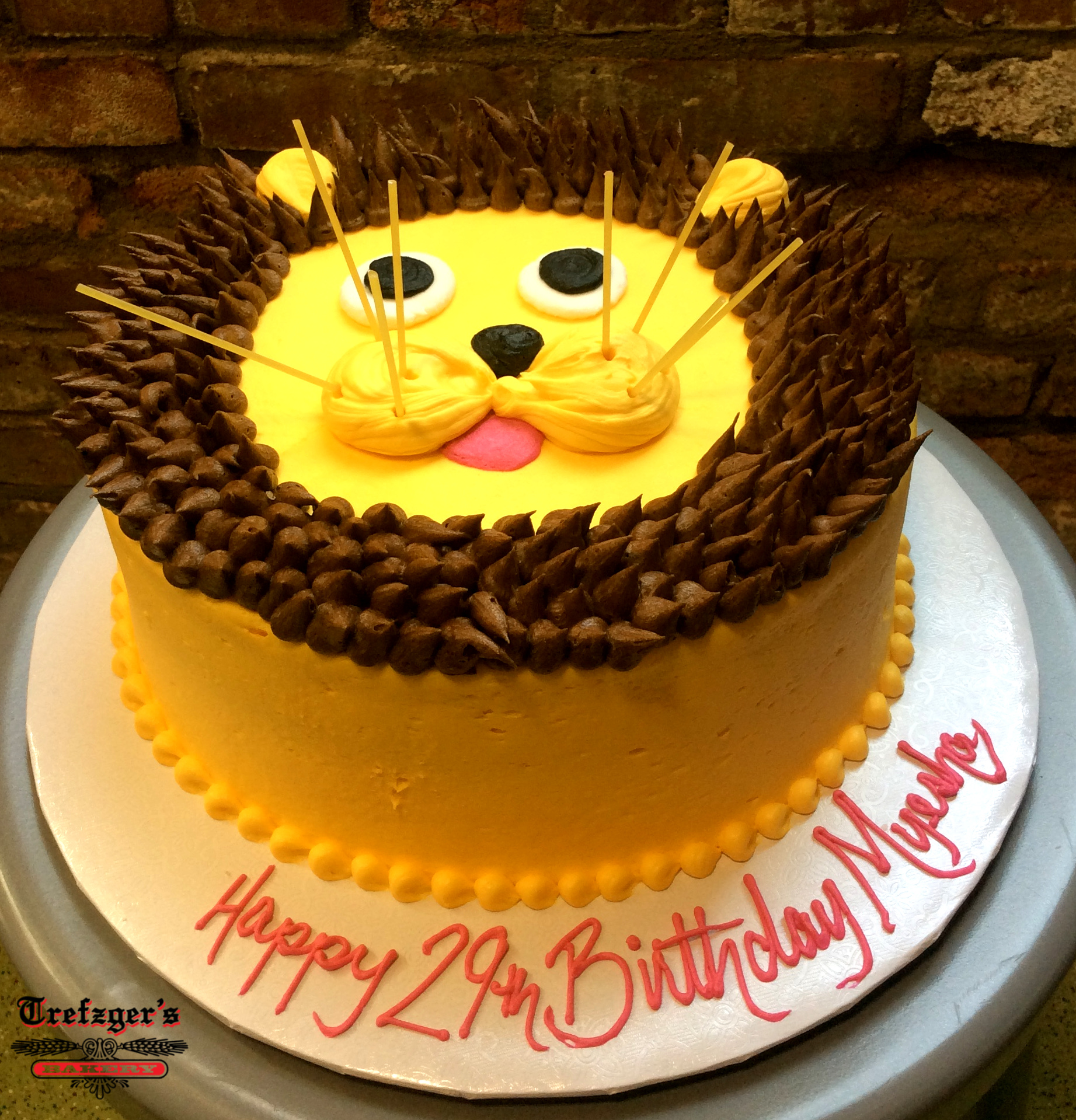 Piped Lion Round Cake