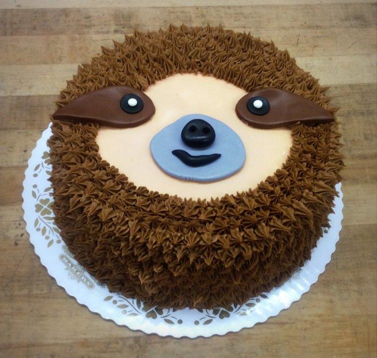 Sloth Face Cake