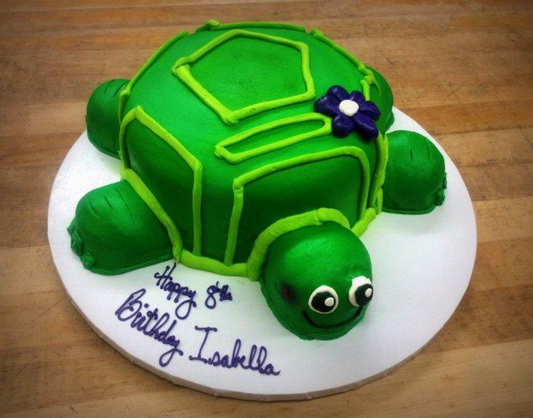 Turtle Shaped Cake