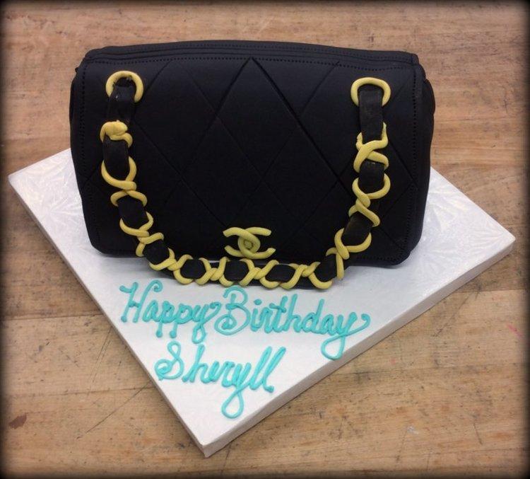 Chanel Purse Shaped Cake