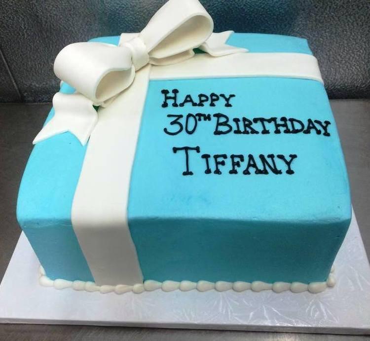 Tiffany Box Square Cake