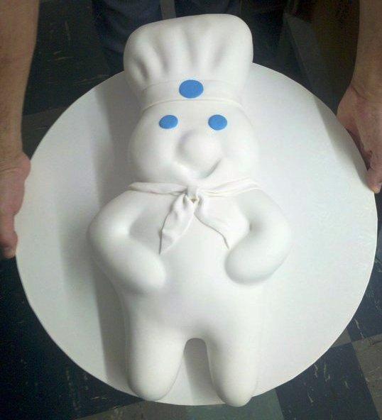 Pillsbury Dough Boy Shaped Cake