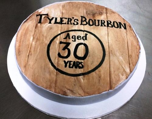 Bourbon Barrel Round Cake