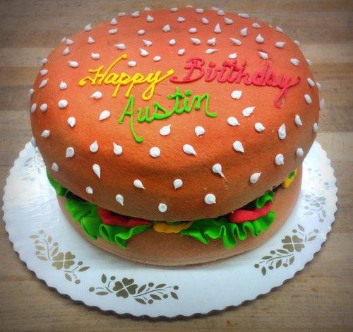 Cheeseburger Shaped Cake