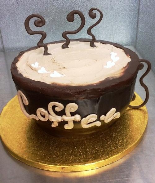 Coffee Mug Shaped Cake