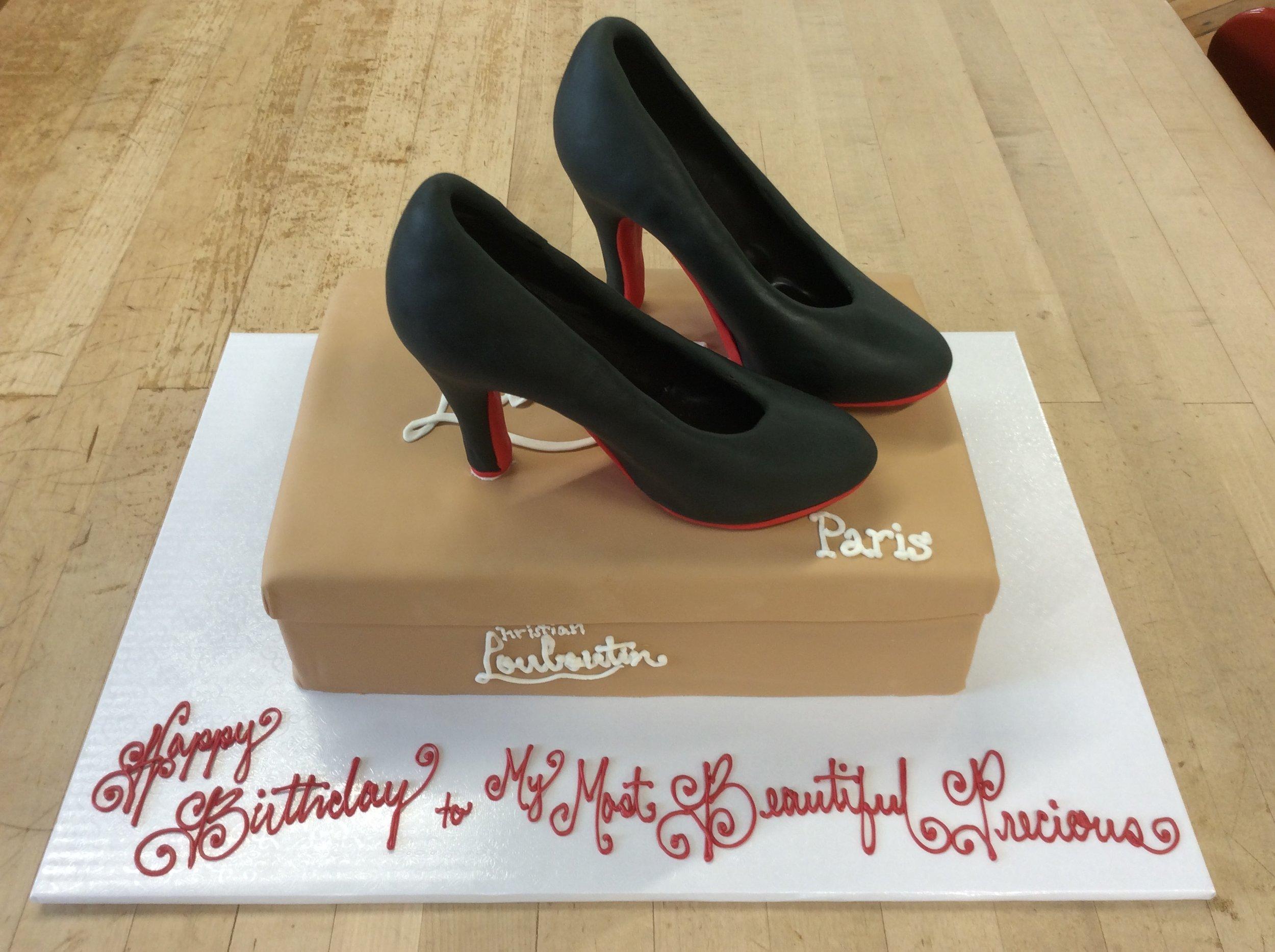 Louboutin Heels and Shoebox Cake