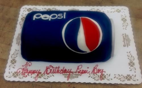 Pepsi Can Shaped Cake