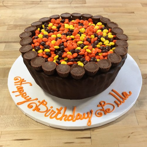 Reese's Peanut Butter Cup Shaped Cake