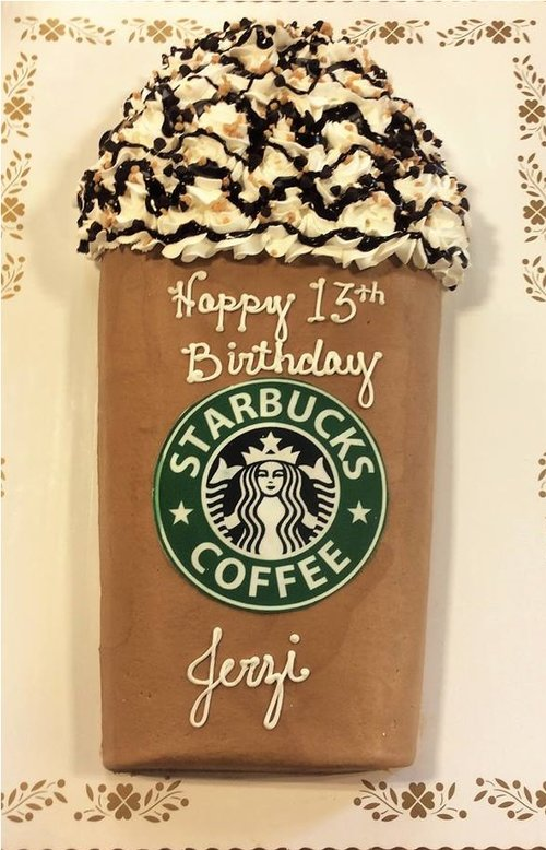 Starbucks Cup Shaped Cake