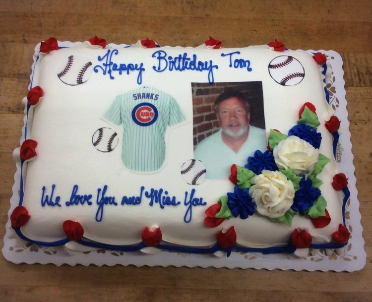 Personalized Jersey with Photoscan Sheet Cake