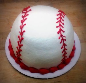 Baseball Petite Cake