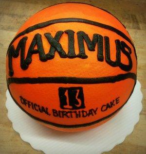 Basketball Shaped Cake
