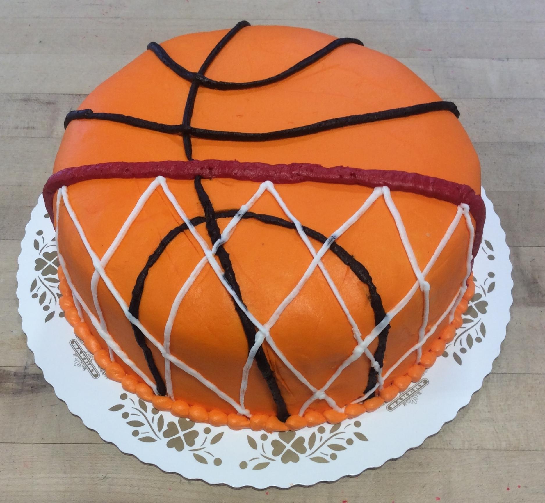 Basketball with Net Cake