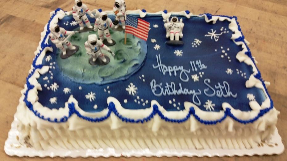 Moon Landing Sheet Cake