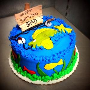 Fondant Fishing Round Cake