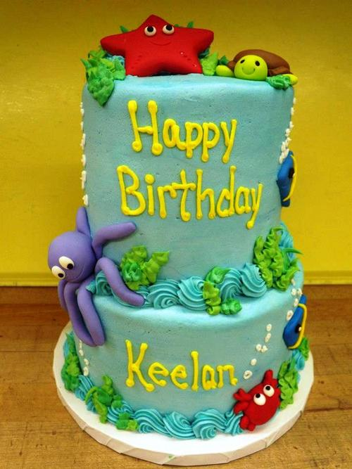 Sea Animals Party Cake