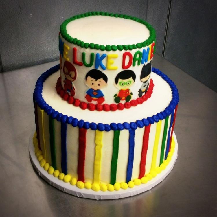 Superhero Party Cake