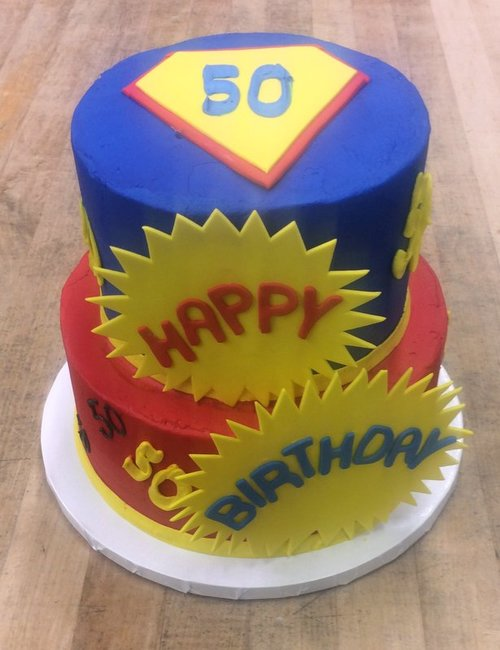 Superman Party Cake