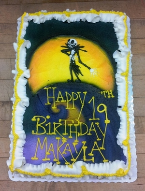 Jack Skellington Sheet Cake