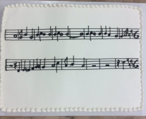 Sheet Music Sheet Cake
