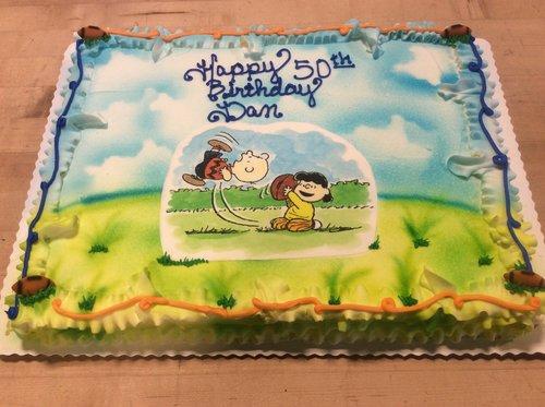 Peanuts Photoscan Sheet Cake