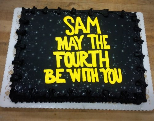 May the Fourth Be with You Sheet Cake