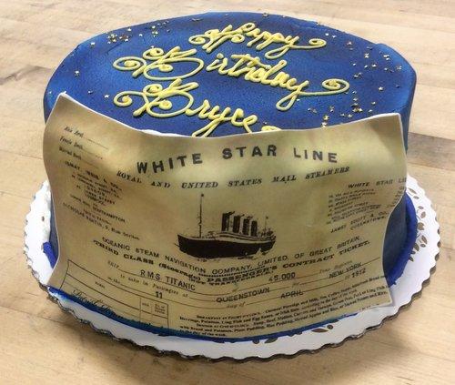 Titanic Photoscan Cake