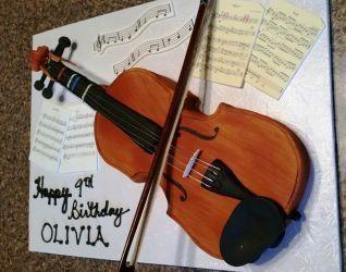 Violin Shaped Cake