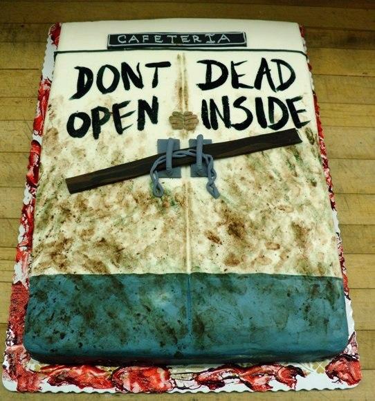 Walking Dead Sheet Cake