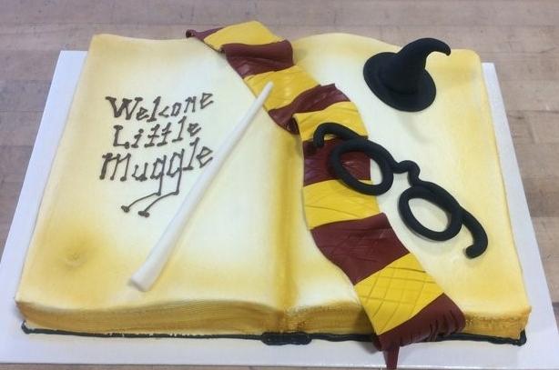 Harry Potter Open Book Cake
