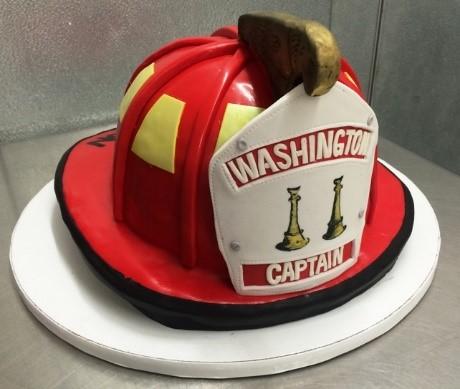 Fire Helmet Shaped Cake