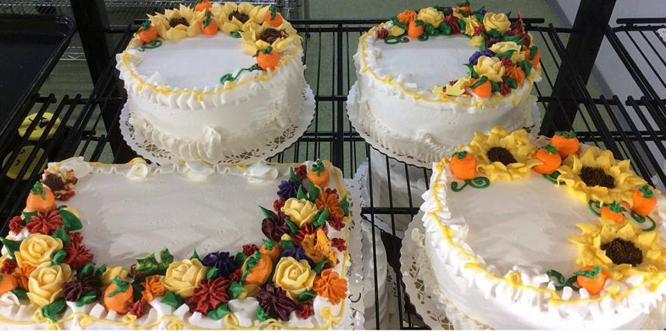 Fall Decorated Store Cakes