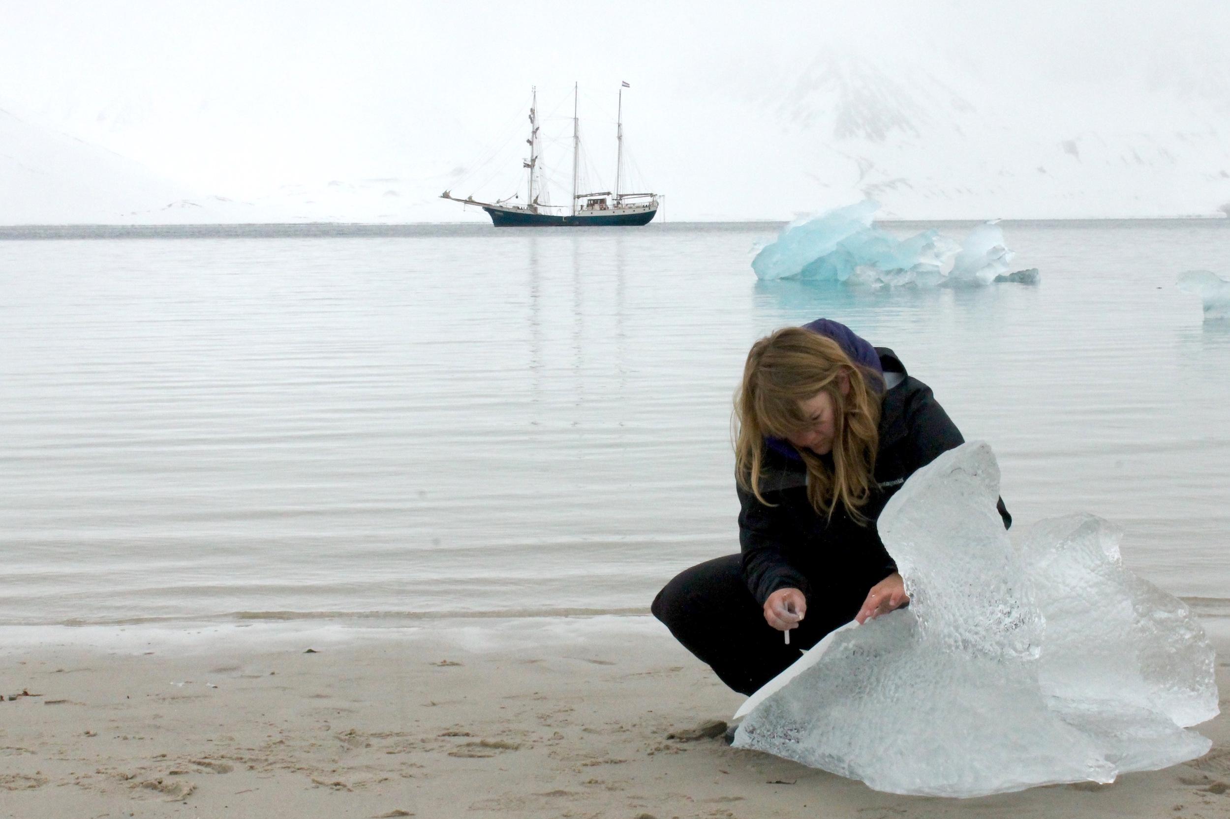 Swell, Iceberg Rubbings, Svalbard, Norway, 2014