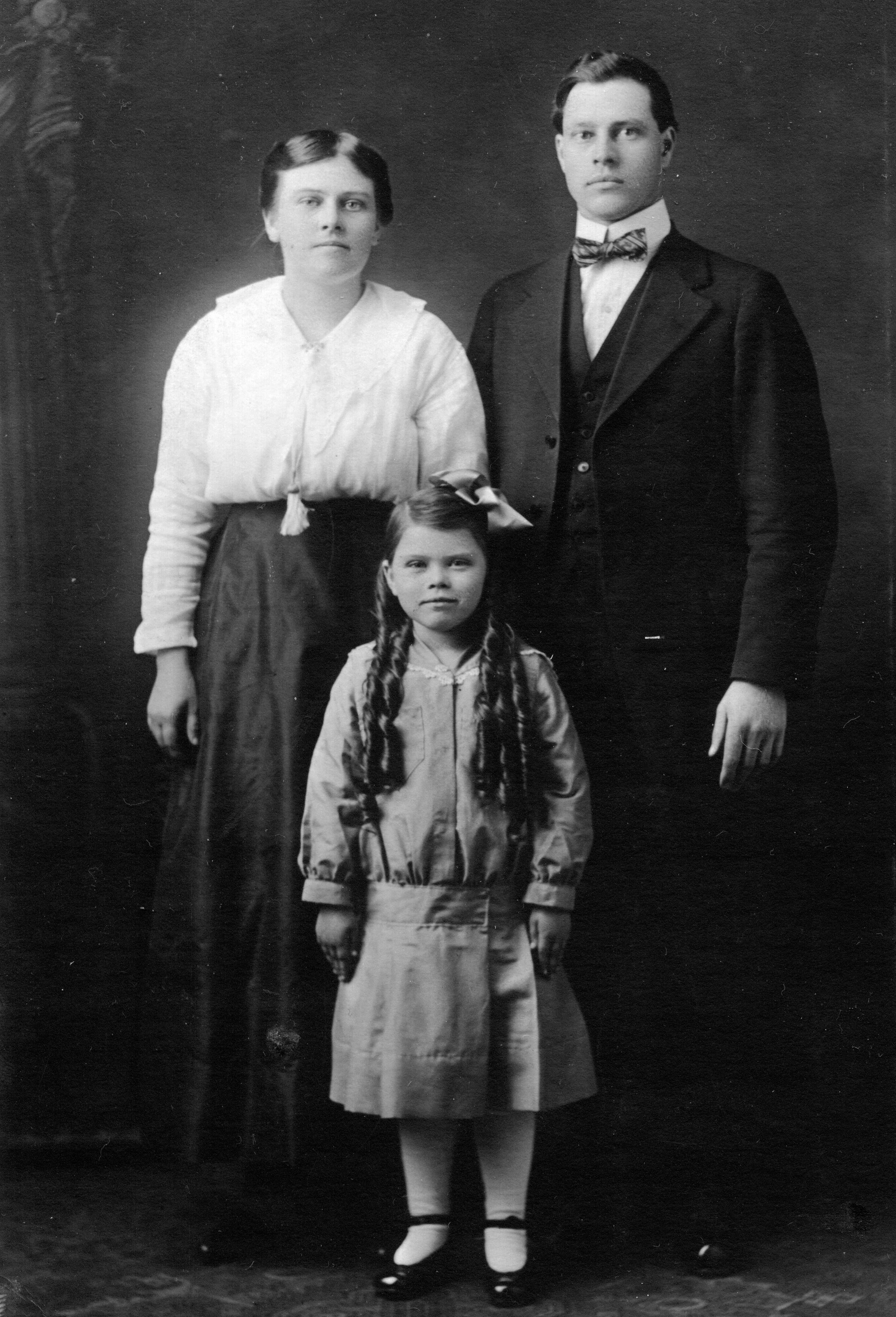 Ralph, Lena, and Eula Cook
